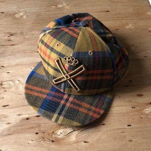 10.Deep Plaid Fitted Baseball Hat 7-7/8